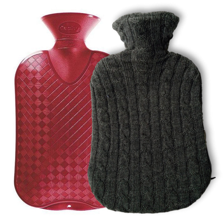 Fashy Hot Water Bottle + Wool Cover Combo