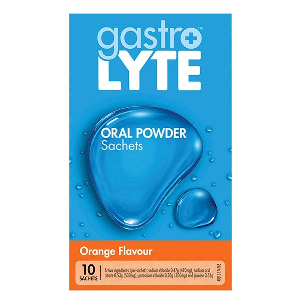 Gastrolyte Oral Powder Sachets Orange Flavour