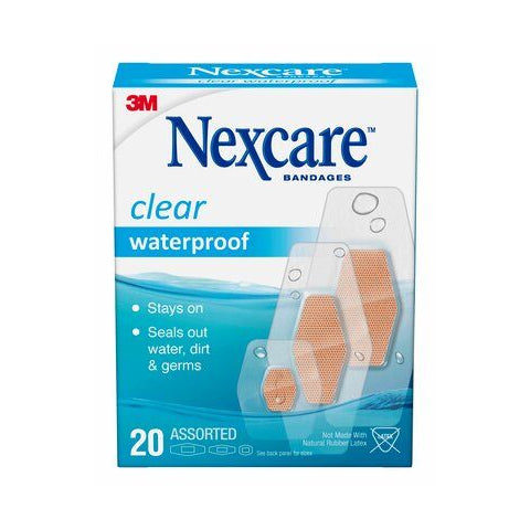 Nexcare Clear Waterproof Bandages
