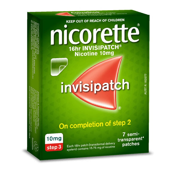 Nicorette 16hr INVISIPATCH Step 3 10mg