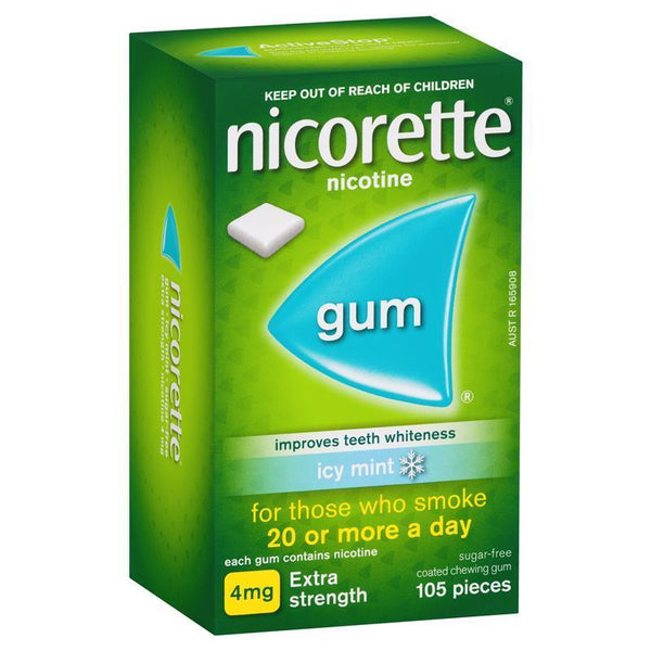 Nicorette Extra Strength Chewing Gum 4mg Icy Mint