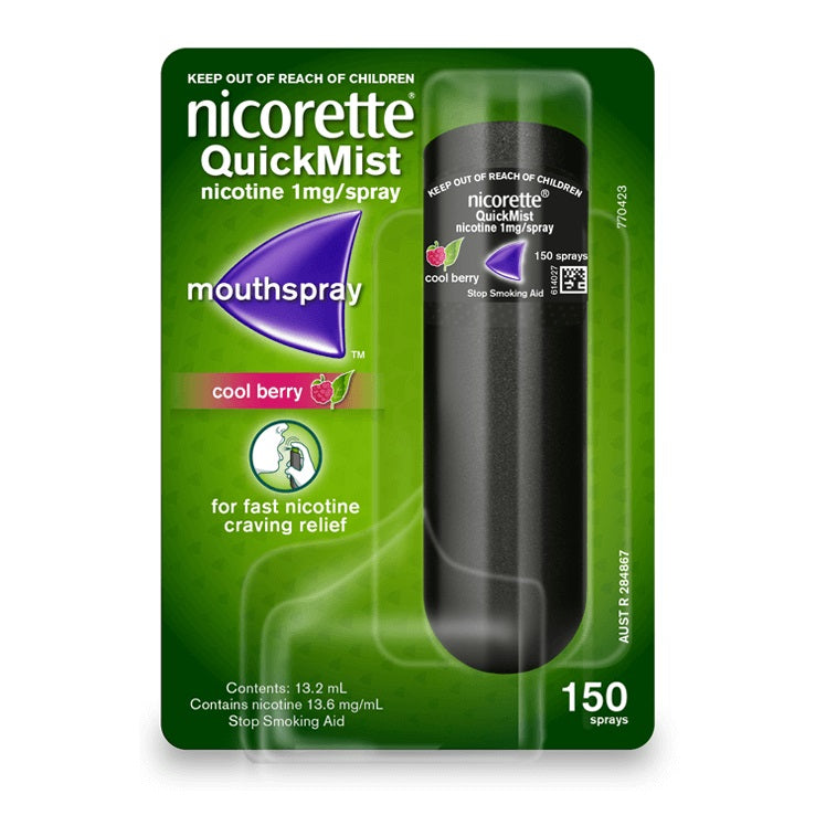 Nicorette Nicotine QuickMist Spray Cool Berry