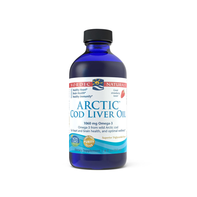 Nordic Naturals Arctic Cod Liver Oil Strawberry Flavour
