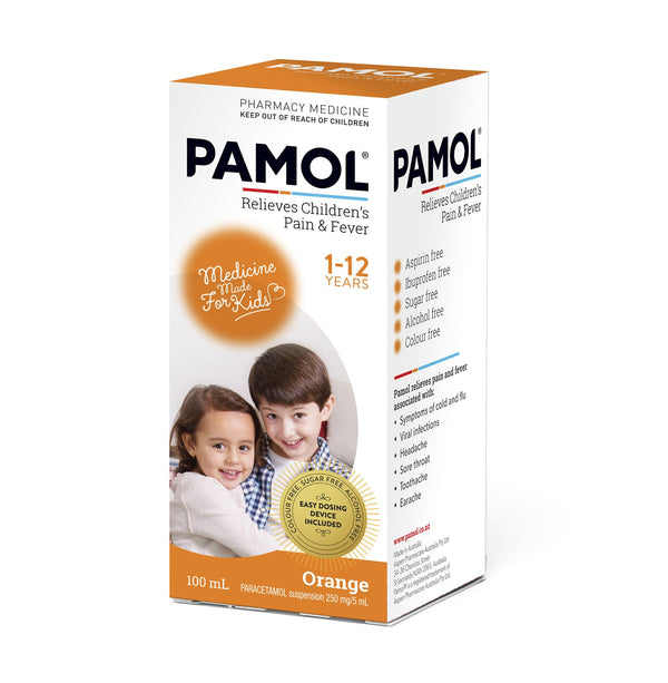 Pamol Children's Pain & Fever Relief Orange Flavour
