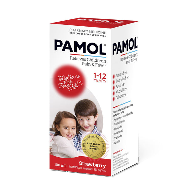 Pamol Children's Pain & Fever Relief Strawberry Flavour