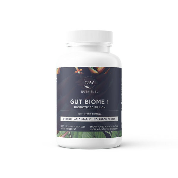 Raw Nutrients Gut Biome 1 Probiotic 50 Billion