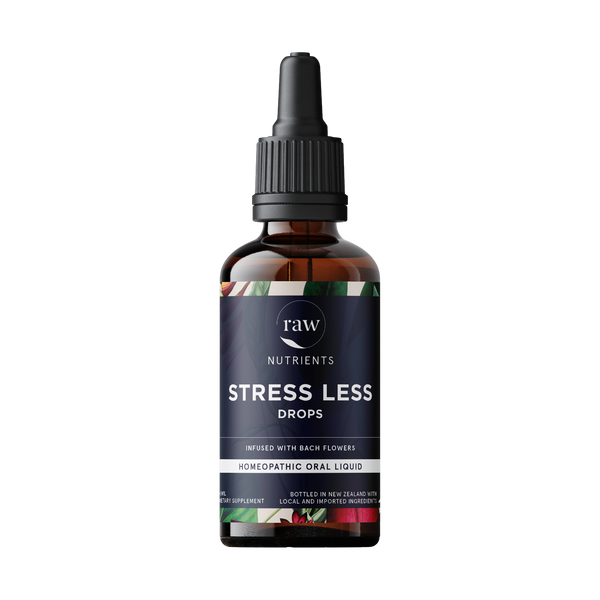 Raw Nutrients Stress Less Drops - Infused with Bach Flowers