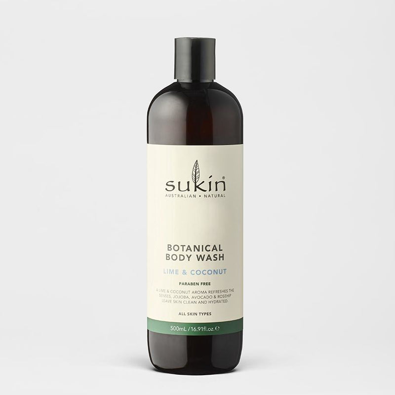 Sukin Botanical Body Wash - Lime and Coconut