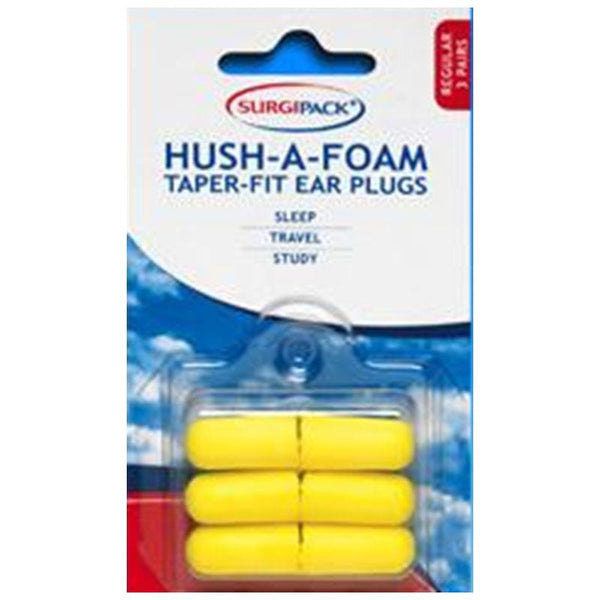 SurgiPack Hush-A-Foam Taper-Fit Ear Plugs