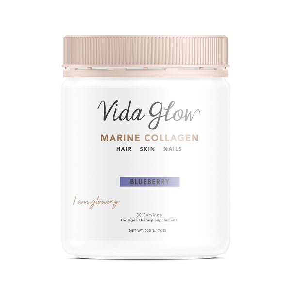 Vida Glow Marine Collagen Powder - Blueberry