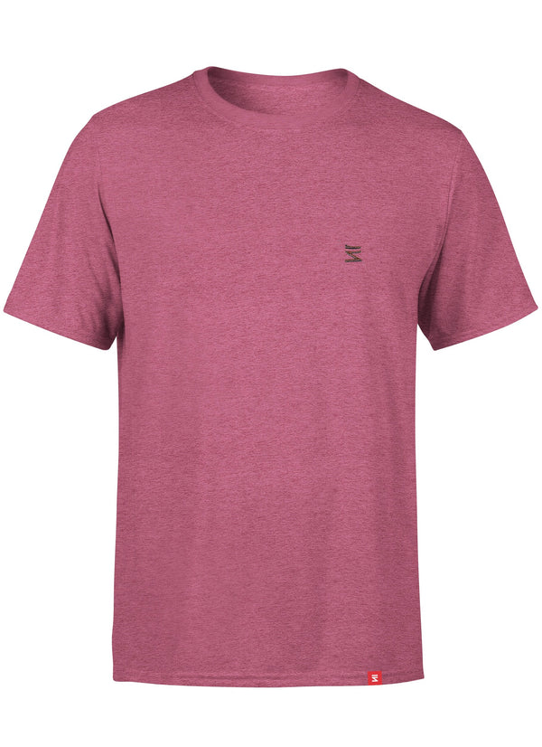 Plain Mens Round Neck Cardinal Heather Half Sleeve T-Shirt