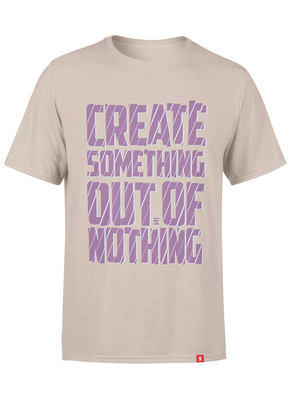 Create Something Out Of Nothing Men Round Neck T-Shirt