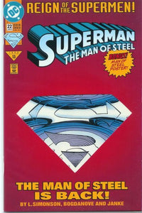 Superman: The Man of Steel #22