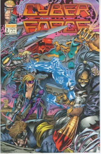 Cyberforce, Vol. 1 #2 - Near M int - Black Dragon Comics