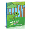 Dibly - the Dino-Sore-No-More Baby Teething Toy - color Lime