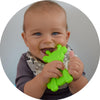 Teething Toys Set by Bambeado. Color combination - Lime/Yellow/Blue