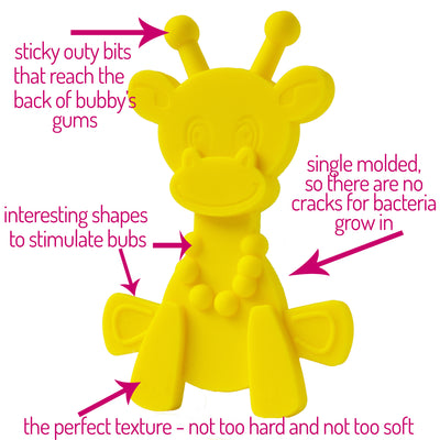 Little bamBAM Baby Teething Toy – Yellow