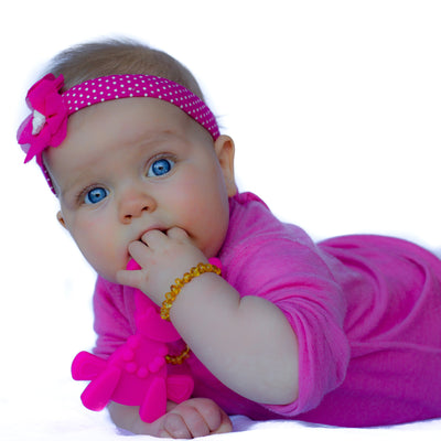 Little bamBAM Baby Teething Toy - Magenta