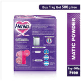 Henko Matic Top Load, 1kg (Free 500gm)