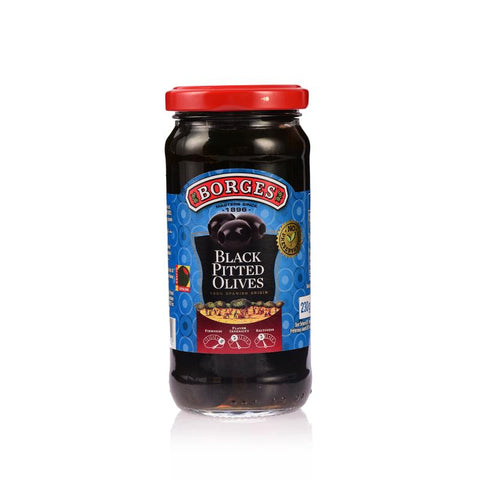 Borges Olives Black Pitted, 340gm