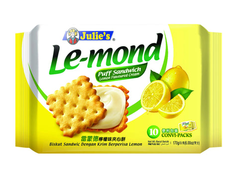 Julie's Le-mond Lemon Sandwich Biscuit, 170gm