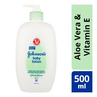 Johnson & Johnson Baby Lotion Aloe Vera, 500ml