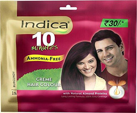 Indica Creme Hair Colour, Burgundy