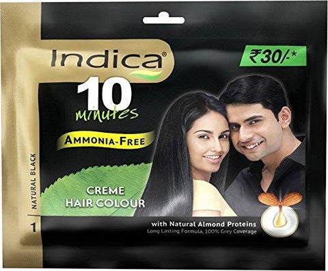 Indica Creme Hair Colour, Natural Black