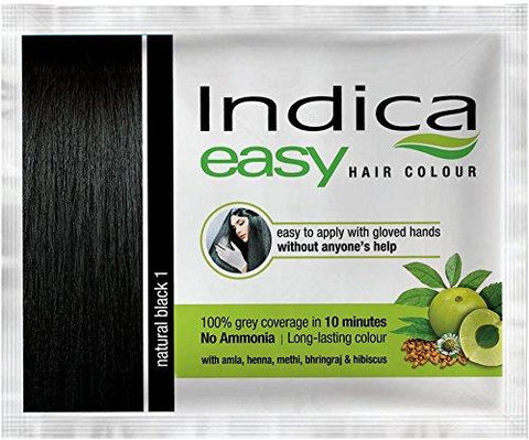 Indica Easy Shampoo Hair Color, Natural Black-18ml