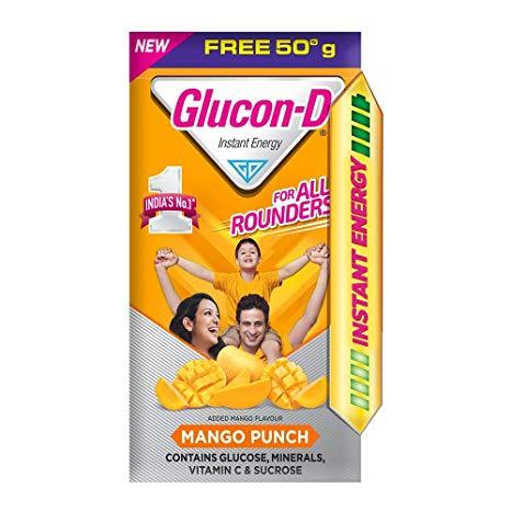 Glucon D Mango Punch, (450gm+50gm) Box