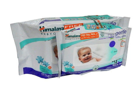 Himalaya Gentle Baby Wipes 72 Pieces with Free 12 Pieces Wipes - Kirana - Online Shopping Nepal