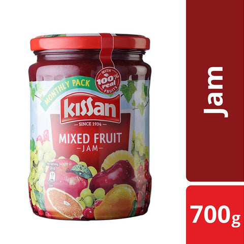 Kissan Mix Fruit Jam, 700g Jar