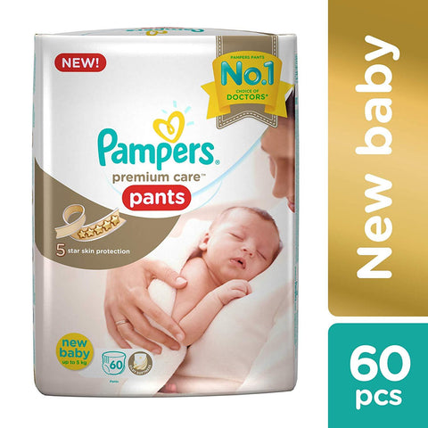 Pampers Premium Care Diapers Pants, Extra Small (XS), (60 Count)