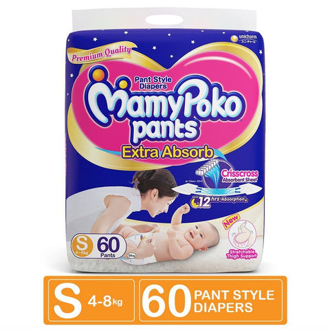 Mamy Poko Pant Diaper Small, 60count