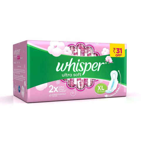 Whisper Ultra Soft XL Sanitary Pad-30count