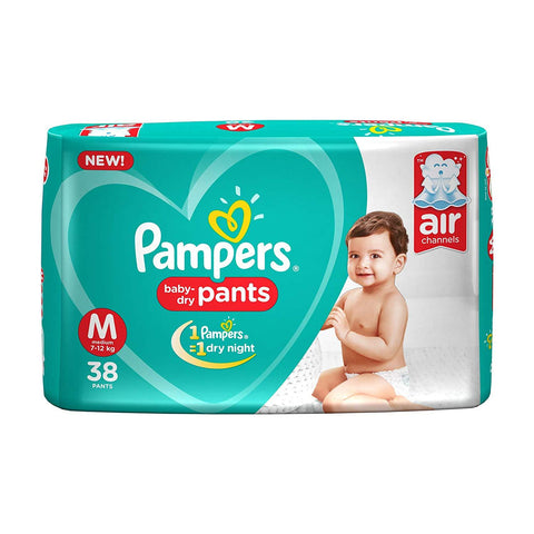 Pampers New Diapers Pants, Medium (38 Count)