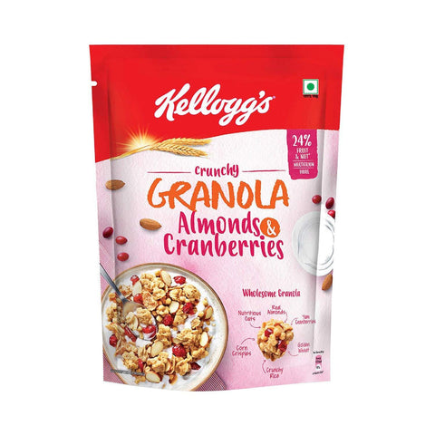 Kellogg's Crunchy Granola  Almonds and Cranberries, 460gms