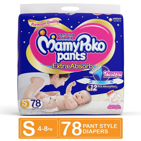 MamyPoko Pants Diaper Small, 78count