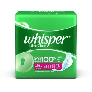 Whisper Ultra Clean XL Wings 15pads - Kirana - Online Shopping Nepal