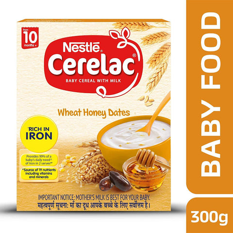 Nestle Cerelac Wheat Honey Dates Stage 3, 300gm