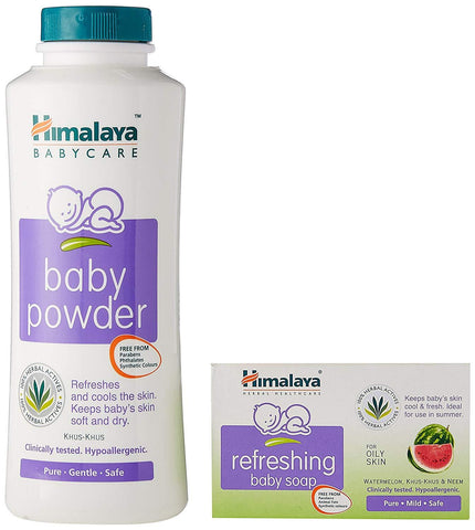Himalaya Baby Powder 200gm (Free Refreshing Baby Soap 75gm)