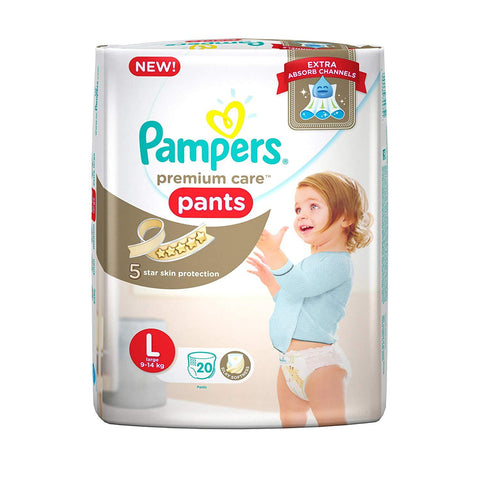 Pampers Premium Care Diapers Pants, Large, (20 Count)