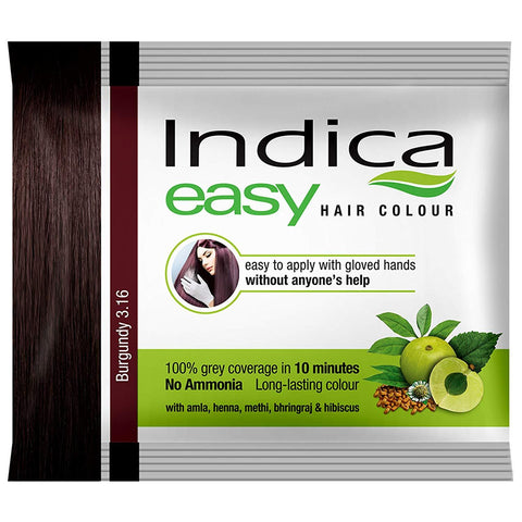Indica Easy Shampoo Hair Color, Burgundy-18ml