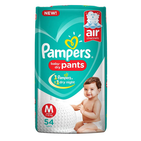 Pampers New Diapers Pants, Medium (54 Count)
