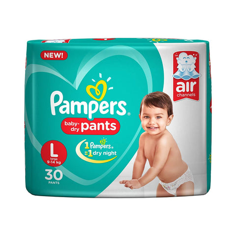 Pampers New Diapers Pants, Large (30 Count)