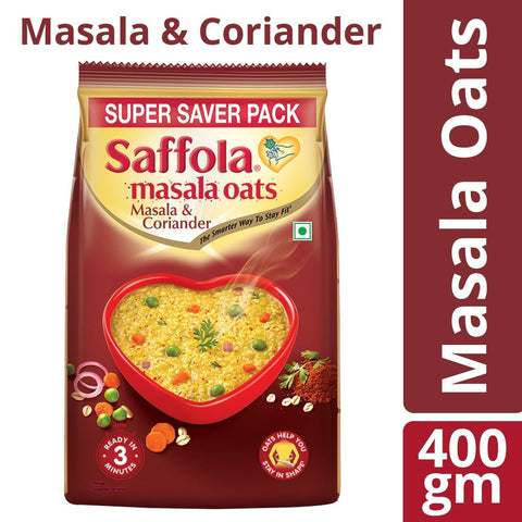 Saffola Masala Oats Masala and Coriander 400gm - Kirana - Online Shopping Nepal