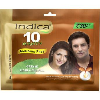 Indica Creme Hair Colour, Natural Brown