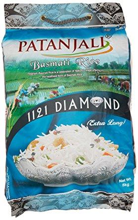 Patanjali Basmati Rice, Diamond (Extra Long) - 20 kg - Kirana - Online Shopping Nepal