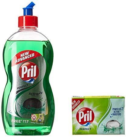 Pril Green 225ml ( Free Soap)