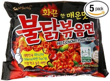 Samyang Ramen / Spicy Chicken Roasted Noodles 140g (Pack of5) - Kirana - Online Shopping Nepal